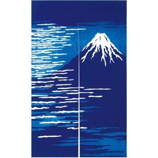 【まとめ買い10個セット品】 【業務用】藍染めのれん 富士山 NID3105-BI