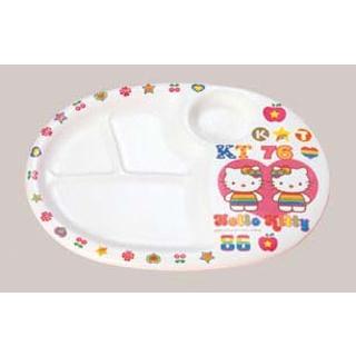 【まとめ買い10個セット品】 【業務用】メラミン お子様食器 ハローキティ ランチ皿 MC-31