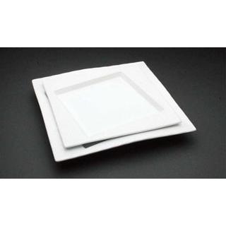 【まとめ買い10個セット品】 【業務用】アルセラム 白変形 白変形中皿 EC12-36