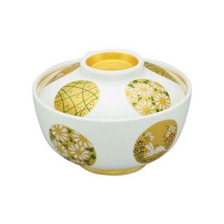 【まとめ買い10個セット品】 【業務用】アルセラム強化食器 金彩丸紋蓋物 EC3-46
