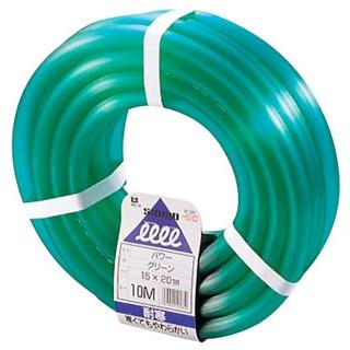 【まとめ買い10個セット品】水道用ハイスーパーホース(φ15mm)普及タイプ 10m(緑色)HS-15 10G【 清掃・衛生用品 】 【ECJ】