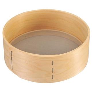 【まとめ買い10個セット品】 【業務用】木枠 ステン張 粉フルイ 細目(40メッシュ)8寸
