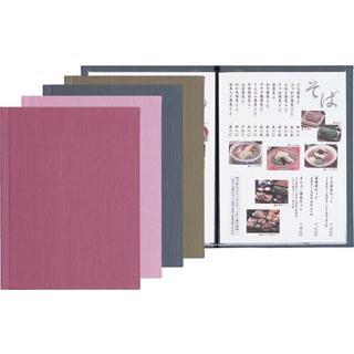 【まとめ買い10個セット品】 【業務用】シンビ レール式 メニューブック PR-301 うす紫