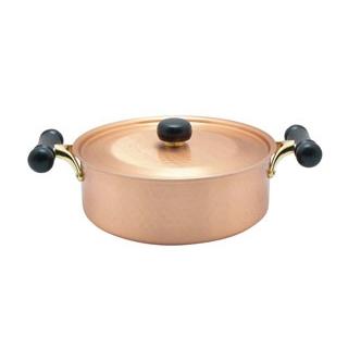 銅IHアンティック 浅型鍋 IH-104 24cm【 鍋全般 】 【ECJ】