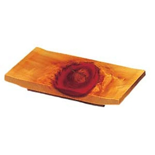 【まとめ買い10個セット品】ひのき 紅節 盛皿 8寸 大 240×150×H30【 和・洋・中 食器 】 【ECJ】