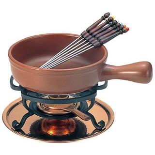 【まとめ買い10個セット品】 【業務用】チーズフォンデュセット T-200 陶器鍋付