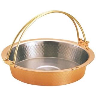 【まとめ買い10個セット品】 【業務用】銅 槌目入 すきやき鍋 ツル付 S-2058L 26cm 【20P05Dec15】