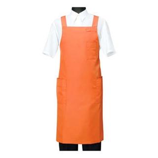 【まとめ買い10個セット品】 【業務用】エプロン CT2566-3 オレンジ M