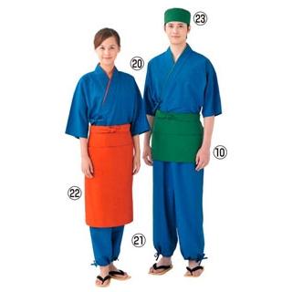 【まとめ買い10個セット品】 【業務用】作務衣パンツ(男女兼用)EL3379-1 青 L