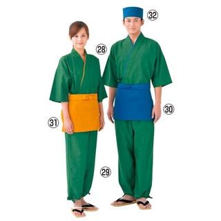 【まとめ買い10個セット品】 【業務用】作務衣(男女兼用)EC3126-4 緑 M