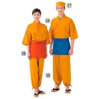 【まとめ買い10個セット品】 【業務用】作務衣(男女兼用)EC3126-5 黄 L