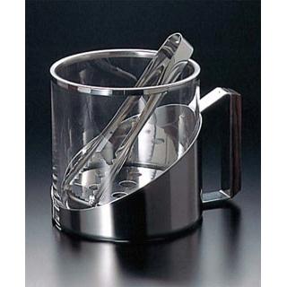 【まとめ買い10個セット品】 【業務用】ガラス アイスペール NO.9074(トング付)