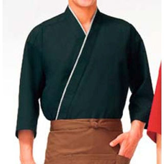 【まとめ買い10個セット品】 【業務用】作務衣(男女兼用)KJ0060-7 黒 LL