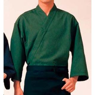 【まとめ買い10個セット品】 【業務用】作務衣(男女兼用)KJ0020-4 緑 L