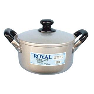 【まとめ買い10個セット品】 【業務用】ロイヤル アルマイト 両手鍋 22cm