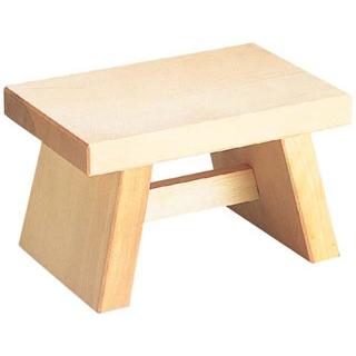 【まとめ買い10個セット品】 【業務用】白木 風呂椅子 6-481-1 260×170×H155