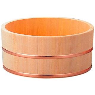 【まとめ買い10個セット品】さわら 風呂桶 銅タガ φ230×115 11-347-4【 店舗備品・防災用品 】 【ECJ】