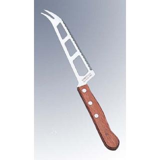 【まとめ買い10個セット品】 【業務用】文明銀丁 木柄 チーズ切ナイフ(全長260)