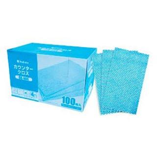 【まとめ買い10個セット品】 【業務用】DK カウンタークロス(100枚入)ブルー CR-604