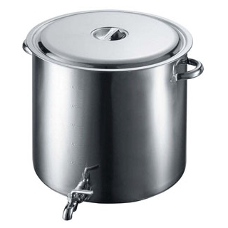 【業務用】EBM 18-8 蛇口付 スープ寸胴鍋 60cm