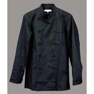 【まとめ買い10個セット品】 【業務用】コックコート(男女兼用)BA1041-9 M ブラック