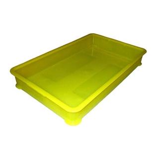 【まとめ買い10個セット品】 EBM PP半透明カラー番重 B型 特大 イエロー(サンコー製) 【ECJ】【 運搬・ケータリング 】