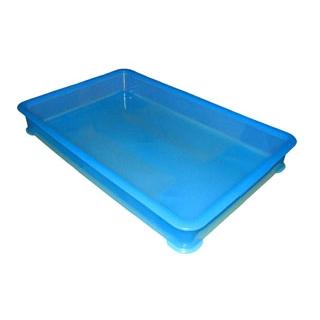 【まとめ買い10個セット品】 EBM PP半透明カラー番重 B型 大 ブルー(サンコー製) 【ECJ】【 運搬・ケータリング 】