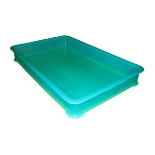 【まとめ買い10個セット品】 EBM PP半透明カラー番重 B型 大 グリーン(サンコー製) 【ECJ】【 運搬・ケータリング 】