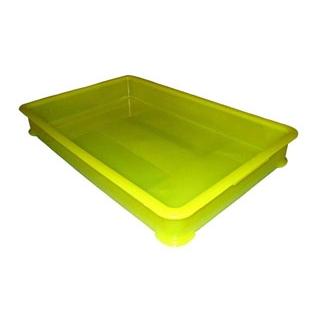 【まとめ買い10個セット品】 【業務用】EBM PP半透明カラー番重 B型 大 イエロー(サンコー製)