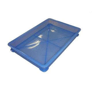 【まとめ買い10個セット品】 EBM PP半透明カラー番重 B型 小 ブルー(サンコー製) 【ECJ】【 運搬・ケータリング 】