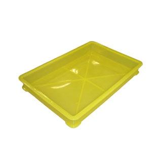 【まとめ買い10個セット品】 EBM PP半透明カラー番重 B型 小 イエロー(サンコー製) 【ECJ】【 運搬・ケータリング 】
