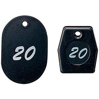 【まとめ買い10個セット品】グラニットクロークチケット ブラック(50個セット)11004(51~100)【 店舗備品・防災用品 】 【ECJ】