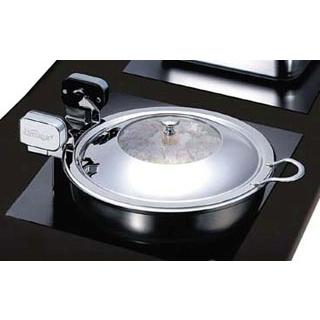 ハイパーラックス 丸型電磁サーバー ガラス蓋タイプ(ノーマルヒンジ)40cm 644GL【 ビュッフェ関連 】 【ECJ】