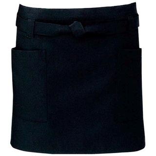 【まとめ買い10個セット品】ショートエプロン T-6231 ブラック【 ユニフォーム 】 【ECJ】