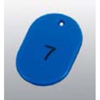 【まとめ買い10個セット品】番号札 大(50個セット)51~100 ブルー 11812【 店舗備品・防災用品 】 【ECJ】