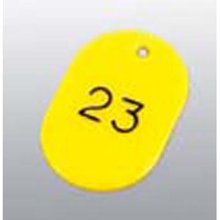 【まとめ買い10個セット品】 【業務用】番号札 大(50個セット)51~100 イエロー 11812