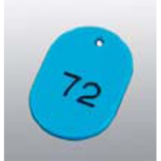 【まとめ買い10個セット品】 【業務用】番号札 大(50個セット)51~100 スカイブルー 11812