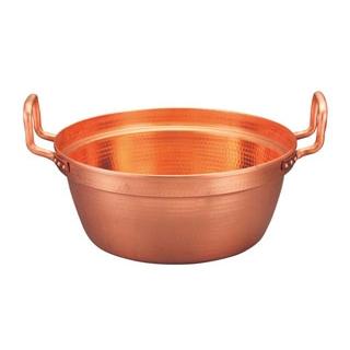 【まとめ買い10個セット品】 【業務用】EBM 銅 段付鍋 錫引きなし 42cm 【20P05Dec15】