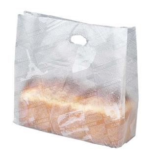 【まとめ買い10個セット品】 【業務用】フランス文字柄 ポリエチレン パン袋(100枚入)HD-70L 大