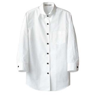 【まとめ買い10個セット品】 【業務用】女性用七分袖シャツ CH4427-0 ホワイト 7号