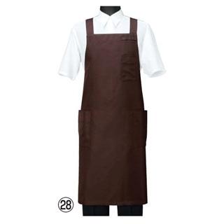 【まとめ買い10個セット品】 【業務用】エプロン CT2566-6 ブラウン M