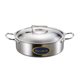 【まとめ買い10個セット品】 【業務用】ニューキングデンジ 外輪鍋(目盛付)27cm 【20P05Dec15】