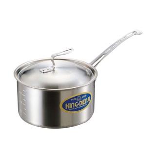 【まとめ買い10個セット品】 【業務用】ニューキングデンジ 深型片手鍋(目盛付)15cm