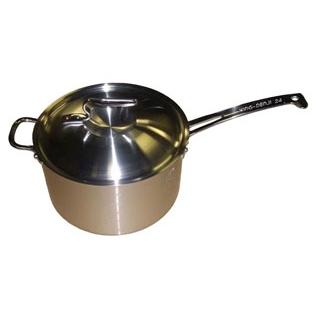 【まとめ買い10個セット品】 【業務用】ニューキングデンジ 深型片手鍋(目盛付)24cm