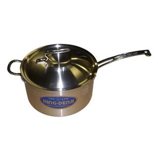 【まとめ買い10個セット品】 【業務用】ニューキングデンジ 深型片手鍋(目盛付)27cm