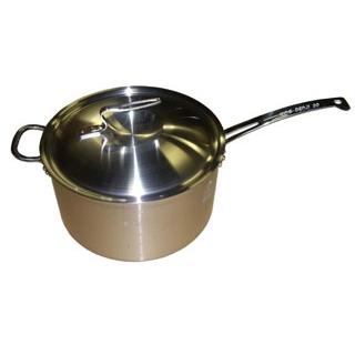 【まとめ買い10個セット品】 【業務用】ニューキングデンジ 深型片手鍋(目盛付)30cm