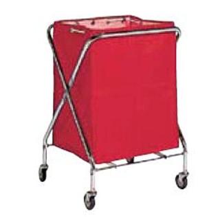 【まとめ買い10個セット品】 【業務用】BM ダストカー 袋付(折りたたみ式)小 赤 132L 【 メーカー直送/代金引換決済不可 】
