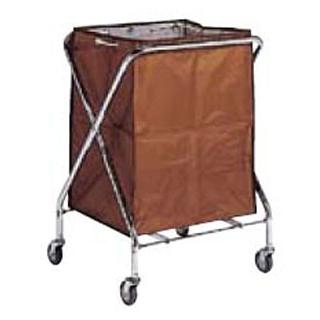 【まとめ買い10個セット品】 【業務用】BM ダストカー 袋付(折りたたみ式)小 茶 132L 【 メーカー直送/代金引換決済不可 】
