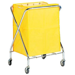 【まとめ買い10個セット品】 【業務用】BM ダストカー 袋付(折りたたみ式)小 黄 132L 【 メーカー直送/代金引換決済不可 】