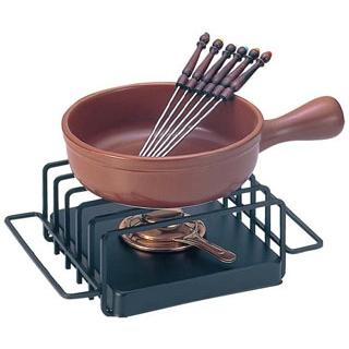【まとめ買い10個セット品】 【業務用】チーズフォンデュセット T-210 陶器鍋付